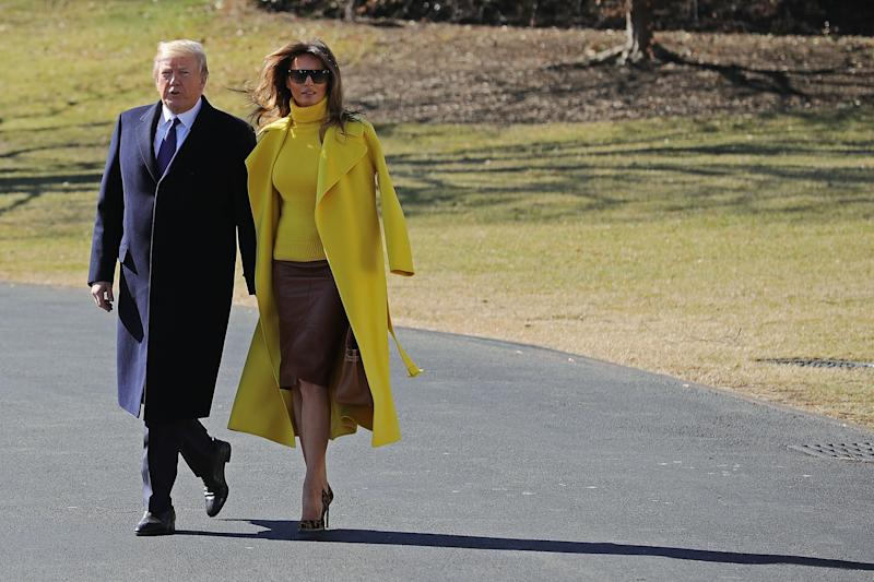 Watch: Donald Trump Tries and Fails to Hold Melania's Hand, Gets a Handful of Her Coat Sleeve Instead