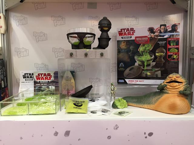 <p>Now the truth can be told: The Hutt fortune is built on … slime? Kid scientists can manufacture the gooey green stuff with this <em>Star Wars</em> Science kit. (Photo: Basic Fun) </p>