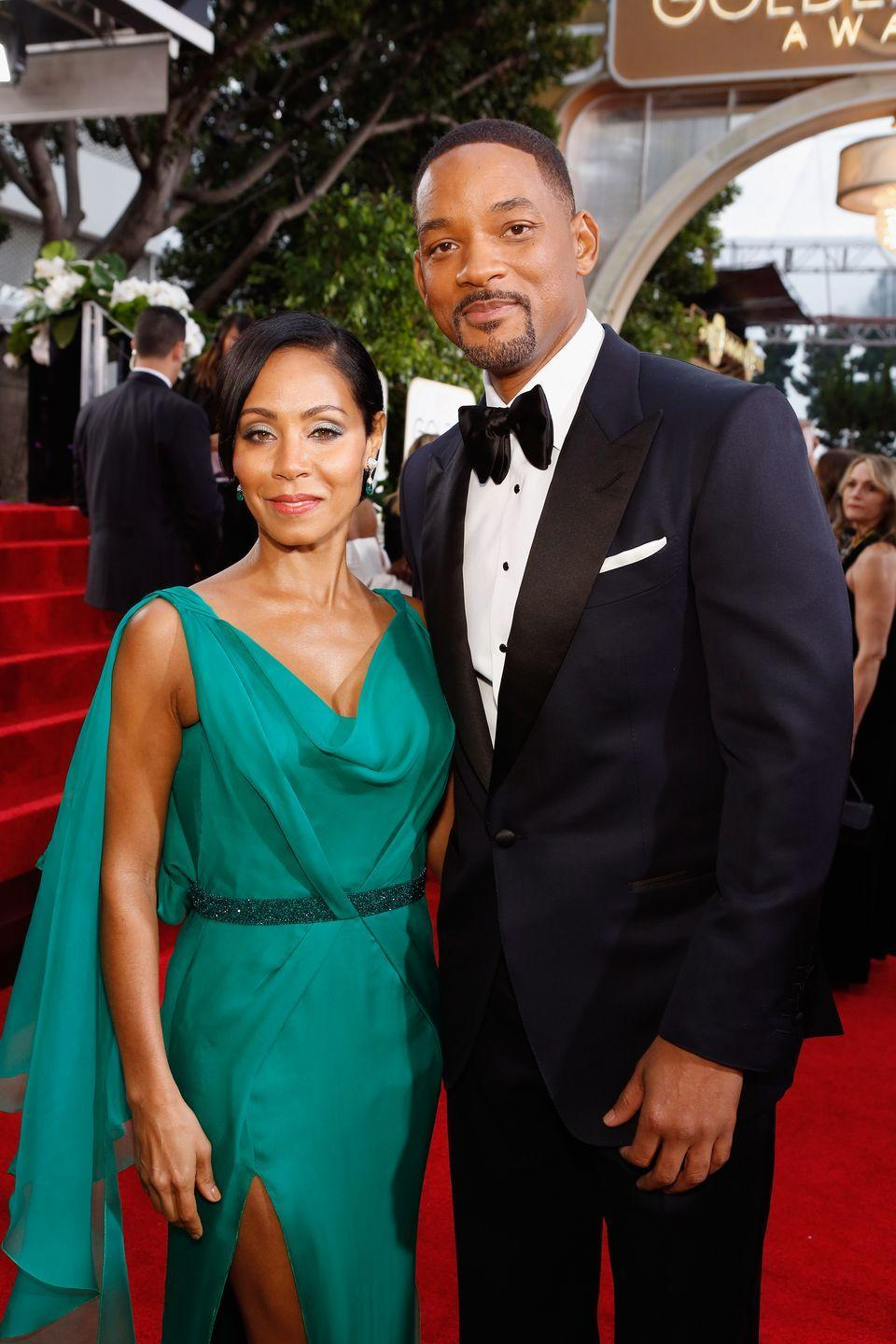 "<p>Jada auditioned for the role of Will's girlfriend on hit series, <em>The Fresh Prince of Bel-Air</em>. While that role later went to Nia Long, it didn't stop the two from becoming friends, and soon enough their friendship turned into a full-blown relationship. In 1997, the Smith's tied the knot in a swanky New Years Eve ceremony at the Cloisters Mansion in Jada's hometown of Baltimore, according to <em><a href=""https://people.com/archive/mr-smith-takes-a-bride-vol-49-no-2/"" rel=""nofollow noopener"" target=""_blank"" data-ylk=""slk:People"" class=""link rapid-noclick-resp"">People</a>.</em></p><p>In years since, the couple raised their two children, <a href=""https://www.harpersbazaar.com/culture/features/a25100553/jada-pinkett-smith-willow-smith-adrienne-banfield-jones-red-table-talk-interview-2018/"" rel=""nofollow noopener"" target=""_blank"" data-ylk=""slk:Willow"" class=""link rapid-noclick-resp"">Willow</a> and Jaden, along with co-parenting Will's first son Trey. ""We don't even say we're married anymore. We refer to ourselves as life partners,"" Smith said in 2018 during an interview for <a href=""https://www.rap-up.com/2018/07/04/will-smith-talks-new-music-20-years-of-marriage-drake/"" rel=""nofollow noopener"" target=""_blank"" data-ylk=""slk:Tidal's Rap Radar podcast"" class=""link rapid-noclick-resp"">Tidal's Rap Radar podcast</a>.</p>"