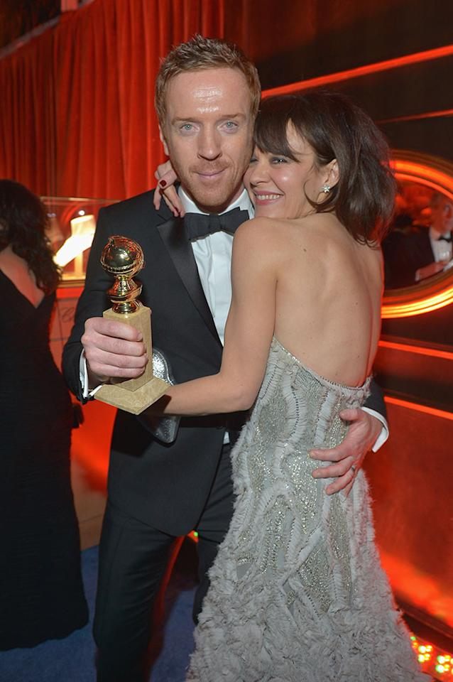 Damian Lewis and Helen McCrory attend The Weinstein Company's 2013 Golden Globe Awards After Party presented by Chopard held at The Old Trader Vic's at The Beverly Hilton Hotel on January 13, 2013 in Beverly Hills, California.