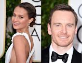 <p>Rumored to have been dating for almost a year, actor Michael Fassbender and girlfriend Alicia Vikander made their awards show debut. While they walked the red carpet separately, they did sit together at the ceremony. Despite their 11-year age gap (small by the standards of this group), the couple is probably bonding over navigating increased fame. This has been a breakout year for Fassbender, who is nominated for his role as Steve Jobs in <i>Jobs, </i>and Vikander, who just graced her first <i>Vogue </i>cover and had buzzworthy roles in <i>The Danish Girl </i>and <i>Ex Machina. (Photo: Getty Images)</i></p>