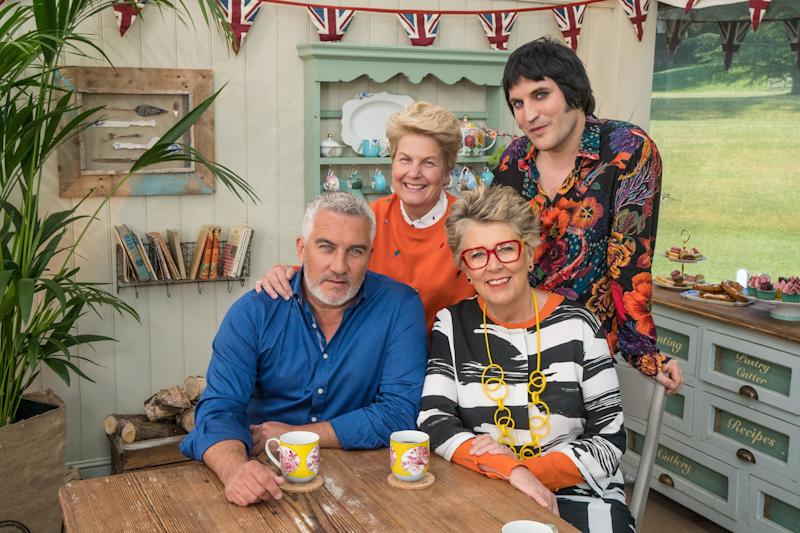 Bake Off presenters Noel Fielding and Sandi Toksvig and judges Paul Hollywood and Prue Leith (Photo: Channel 4)