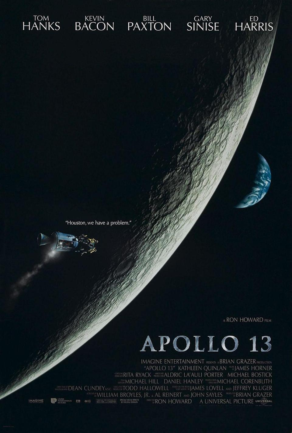 """<p>When this movie was released in 1995, <em>The New York Times</em> titled their review """"<a href=""""https://www.nytimes.com/1995/06/30/movies/film-review-apollo-13-a-movie-for-the-fourth-of-july.html"""" rel=""""nofollow noopener"""" target=""""_blank"""" data-ylk=""""slk:Apollo 13,' a Movie for the Fourth of July"""" class=""""link rapid-noclick-resp"""">Apollo 13,' a Movie for the Fourth of July</a>."""" It tells the story of the real-life space mission that went awry when the spacecraft is damaged, and how NASA worked to get the three astronauts onboard back to Earth safely. </p><p><a class=""""link rapid-noclick-resp"""" href=""""https://www.amazon.com/Apollo-13-Tom-Hanks/dp/B001JI5DRC/ref=sr_1_1?tag=syn-yahoo-20&ascsubtag=%5Bartid%7C10070.g.36156094%5Bsrc%7Cyahoo-us"""" rel=""""nofollow noopener"""" target=""""_blank"""" data-ylk=""""slk:STREAM NOW"""">STREAM NOW</a><br></p>"""