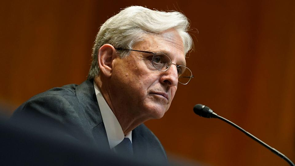 US Attorney General Merrick Garland testifies before the Senate Appropriations Subcommittee on Commerce, Justice, Science, and Related Agencies hearing at the Dirksen Senate Office building in Washington, DC on June 9, 2021. (Susan Walsh/AFP via Getty Images)