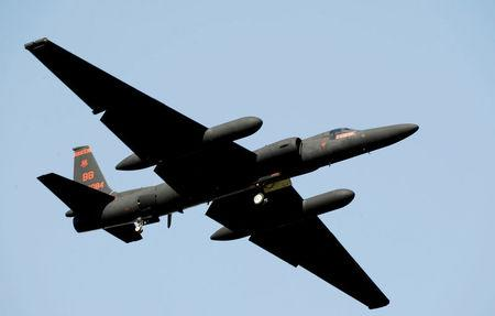FILE PHOTO: A U.S. Air Force U-2 spy plane taking off from Osan Air Base, South Korea