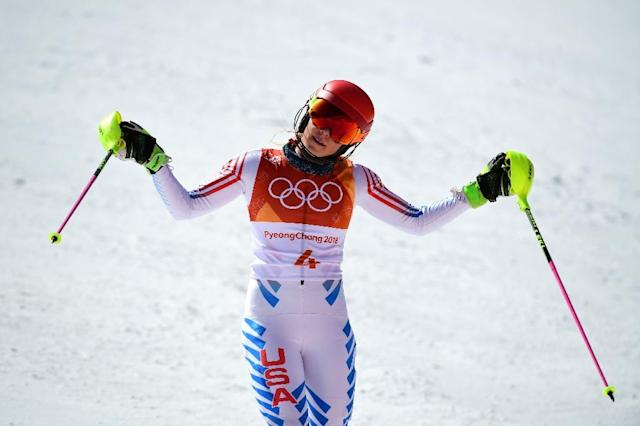 USA's Mikaela Shiffrin said the Olympics were about more than winning medals. (AFP Photo/Roberto SCHMIDT)