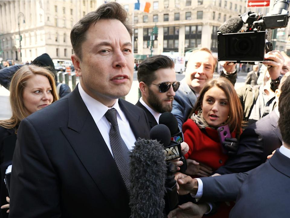 Elon Musk arrives at Manhattan federal court for a hearing on his fraud settlement with the Securities and Exchange Commission (SEC) in New York City, April 4, 2019.
