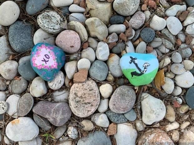 Last year, Ontario Parks had to remind visitors that paint used to cover rocks is a plastic coating that can harm the environment. (Submitted by Ontario Parks  - image credit)