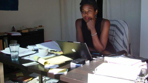 PHOTO: Author Sarah M. Broom is pictured here working on her book, 'The Yellow House.' (Courtesy Sarah M. Broom )