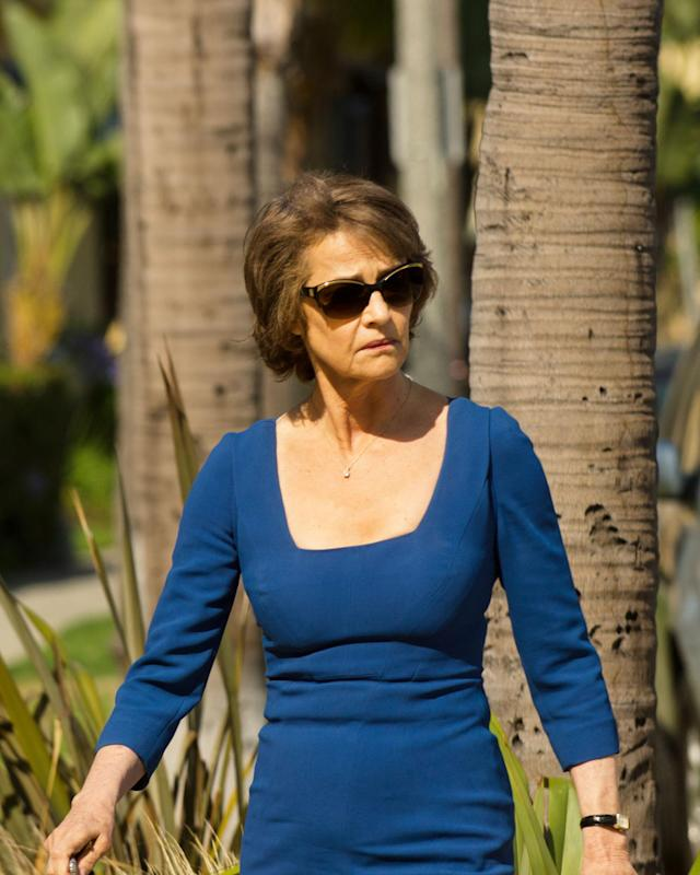 "Charlotte Rampling as Dr. Vogel in Dexter in the ""Dexter"" Season 8 episode, ""Goodbye Miami."""