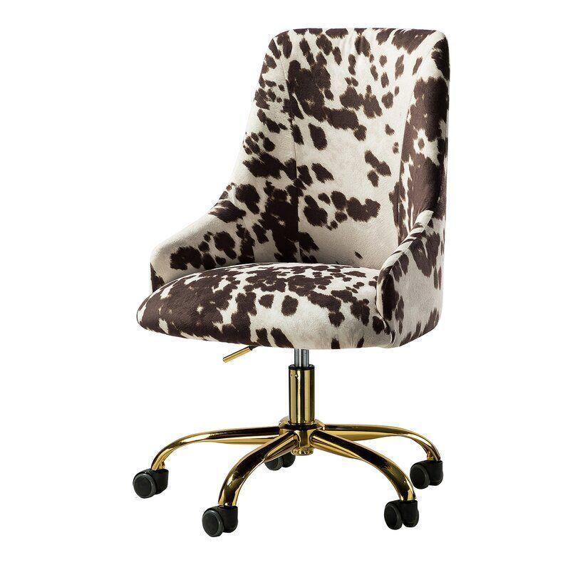 """<p><strong>Everly Quinn</strong></p><p>wayfair.com</p><p><a href=""""https://go.redirectingat.com?id=74968X1596630&url=https%3A%2F%2Fwww.wayfair.com%2Ffurniture%2Fpdp%2Feverly-quinn-eloi-task-chair-w003129775.html&sref=https%3A%2F%2Fwww.bestproducts.com%2Flifestyle%2Fg37357856%2Flabor-day-sales-2021%2F"""" rel=""""nofollow noopener"""" target=""""_blank"""" data-ylk=""""slk:Shop Now"""" class=""""link rapid-noclick-resp"""">Shop Now</a></p><p><del>$599.00</del><strong><br>$167.99 (72% off)</strong></p><p>Cow print is all the rage lately, and for good reason. It's basically a neutral, and it goes with a variety of styles and colors. This chair has a luxe gold-colored base, and it's hard to beat the price when there's a whopping 72% price markdown. </p>"""