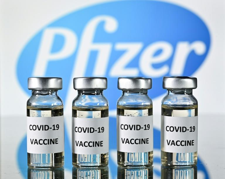 Vials Pfizer's coronavirus vaccine are seen in November 2020