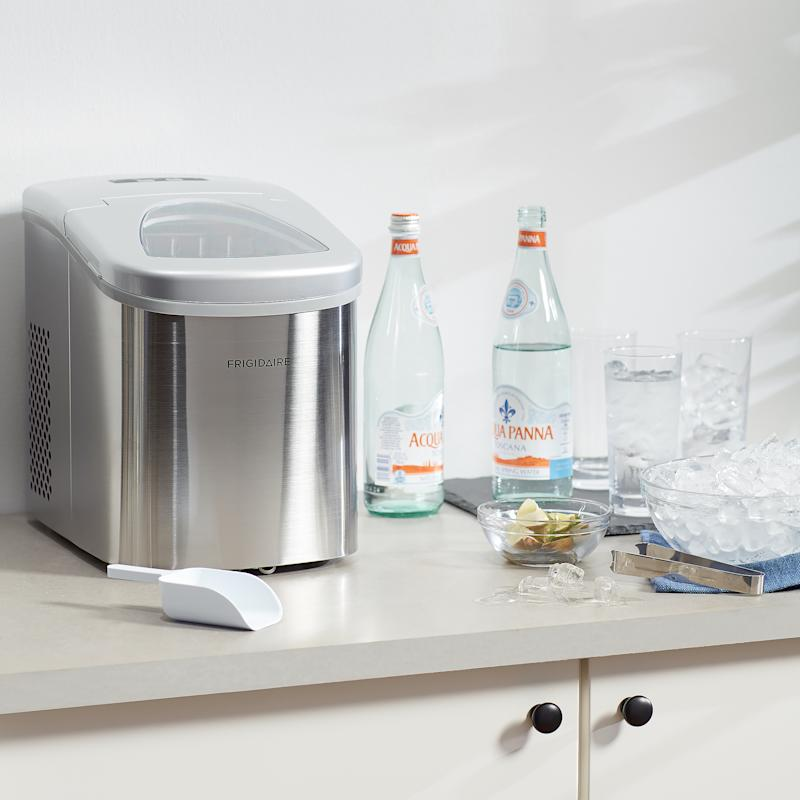 This compact ice maker can make ice cubes in under seven minutes. (Photo: Walmart)