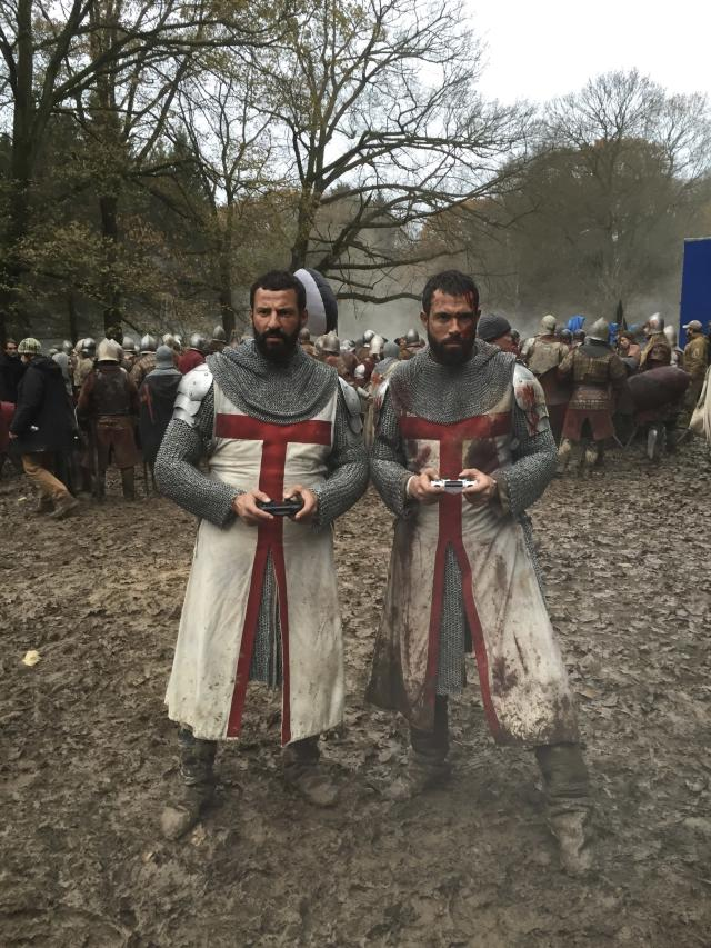 <p>Me and my @knightfallshow stunt double and friend, Faycal. I did all my own fighting and most of my stunts but despite that Faycal was on set with me every day. Teaching me, improving me and encouraging me. When this photograph was taken I was in the middle of working 21 days consecutively. There were times when my energy was totally gone but he would pick me up and cheer me up. What a guy. Thank you bro! — @tom_cullen #Knightfall #HISTORY<br><br>(Photo: Instagram) </p>