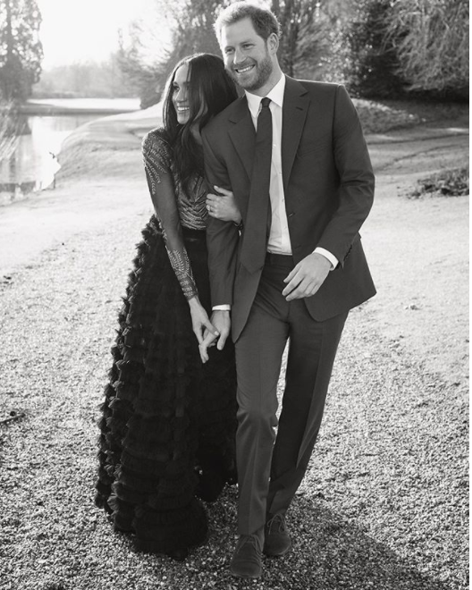 The royal lovebirds stroll hand in hand in this photo. Photo: Twitter/Kensington Royal