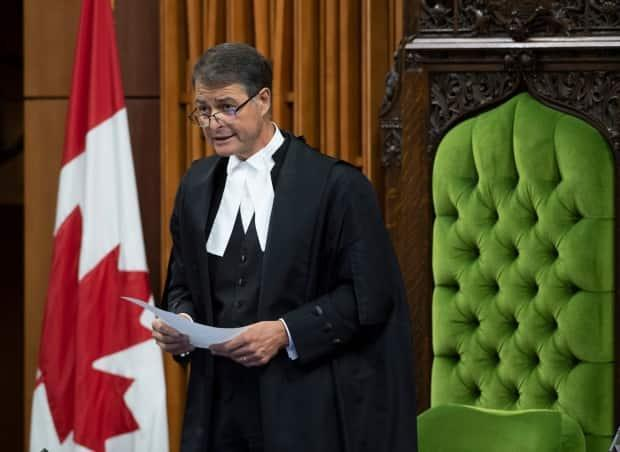 House of Commons Speaker Anthony Rota says a federal attempt to shield documents related to the firing of two scientists is a violation of parliamentary privilege and must be tossed out of court.  (The Canadian Press/Adrian Wyld - image credit)