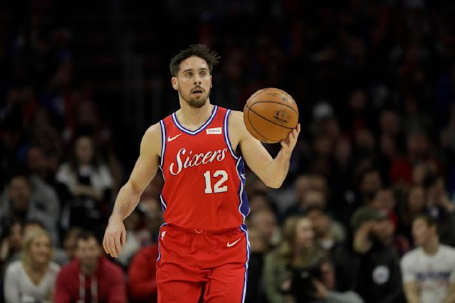 "<a class=""link rapid-noclick-resp"" href=""/nba/teams/phi/"" data-ylk=""slk:Philadelphia 76ers"">Philadelphia 76ers</a>' <a class=""link rapid-noclick-resp"" href=""/nba/players/5582/"" data-ylk=""slk:T.J. McConnell"">T.J. McConnell</a> is valuable because of his all-around proficiency. (AP Photo/Matt Slocum)"