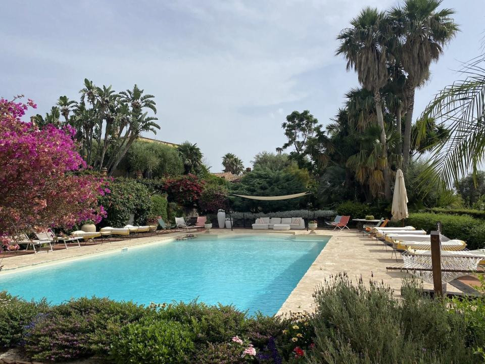 The pool at Villa Don Arcangelo all'Olmo Sicily