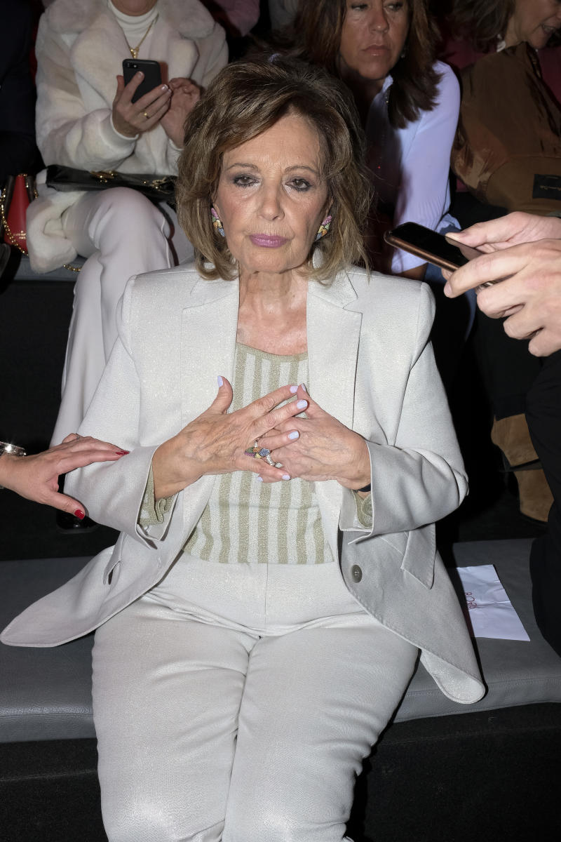 Maria Teresa Campos during in fashion show during Mercedes Benz Fashion Week Madrid Autumn/Winter 2020-21 on January 29, 2020 in Madrid, Spain (Photo by Oscar Gonzalez/NurPhoto via Getty Images)