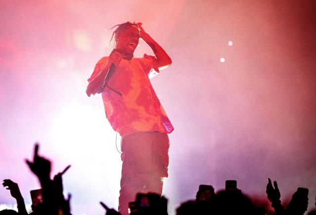 Travis Scott will reportedly join the Super Bowl halftime show. (Getty)