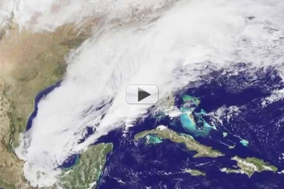 Massive Winter Storm 'Pax' Seen From Space | Time-Lapse Video