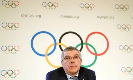Thomas Bach, President of the International Olympic Committee (IOC) attends a news conference after an Executive Board meeting in Lausanne, Switzerland, March 27, 2019. REUTERS/Denis Balibouse