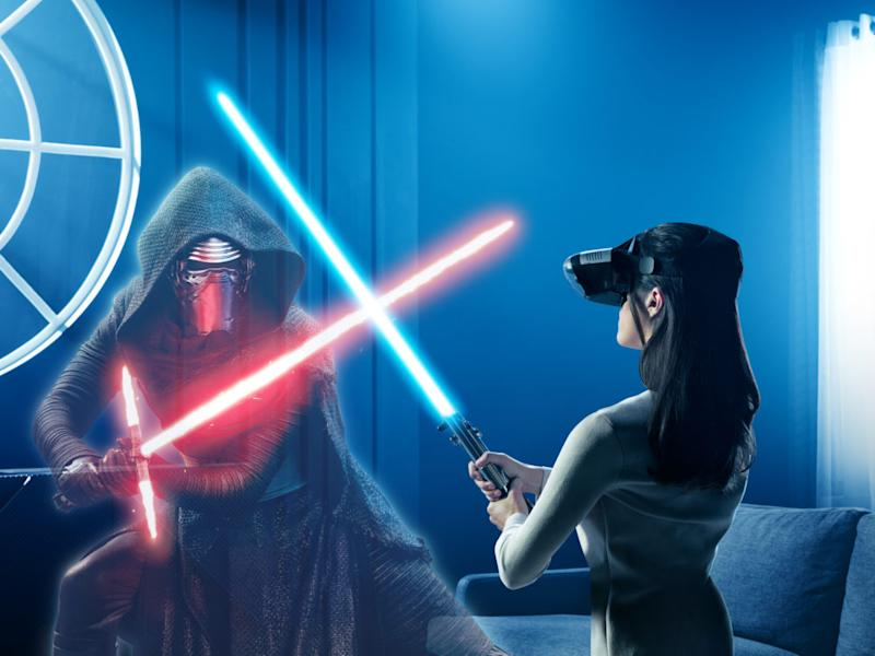 Good news, the technology to have a lightsaber duel with Kylo Ren is