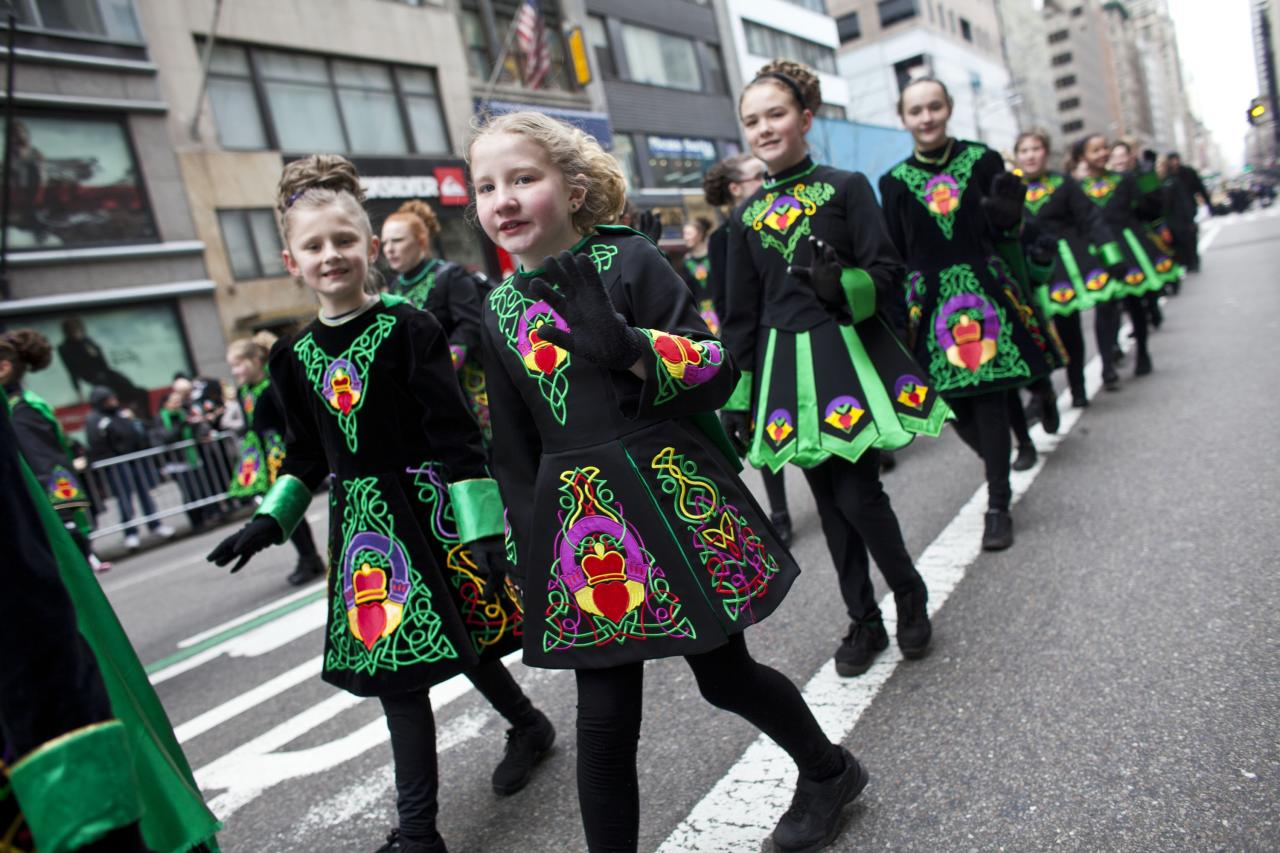 NEW YORK, NY - MARCH 16: Parade participants march on Fifth Avenue during the 252nd annual St. Patrick's Day Parade March 16, 2013 in New York City. The parade honors the patron saint of Ireland and was held for the first time in New York on March 17, 1762, 14 years before the signing of the Declaration of Independence. (Photo by Ramin Talaie/Getty Images)