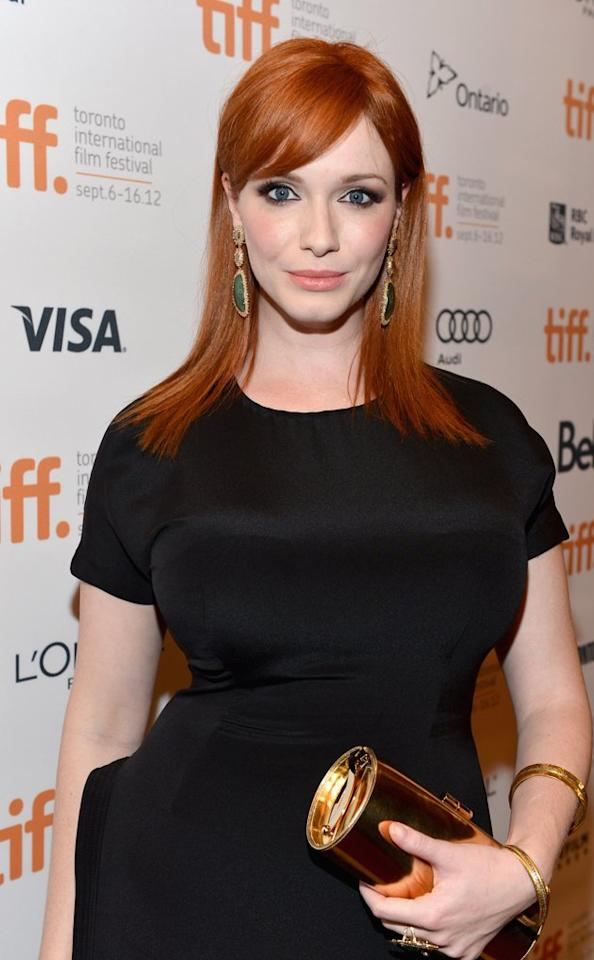"""<h2><b>3. Christina Hendricks</b> - The """"Mad Men"""" beauty scored her third Outstanding Supporting Actress in a Drama Series nomination.</h2>"""