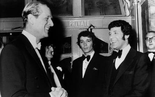 Prince Philip shares a joke with Tom Jones in 1969 - Credit: S&G/S&G and Barratts/EMPICS