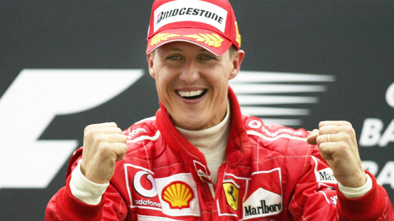 Michael Schumacher, pictured here after a race in 2014.