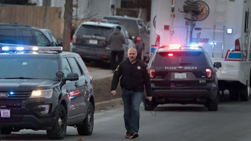 A gunman opened fire at an Illinois factory just after receiving notice of termination from his job there on Friday, killing five fellow workers and wounding five policemen before he was slain by police (REUTERS)