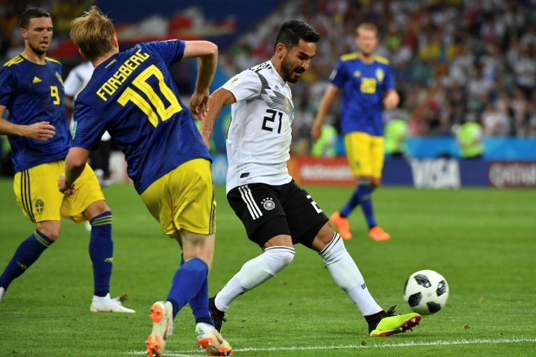 Ilkay Gundogan (R) admits he is worried about being booed by Germany fans in the Nations League clash against France in Munich next week