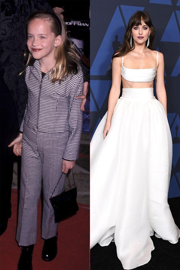 <p>For a red carpet first-timer, a pant suit was quite the sophisticated choice for Dakota Johnson.</p>
