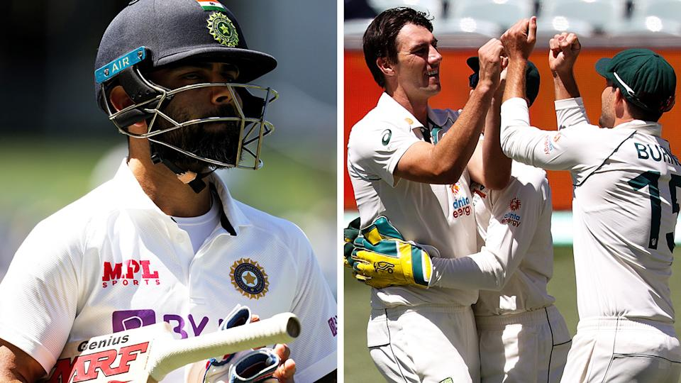 Indian media have savaged their national team following their historic collapse against Australia, in which they scored their lowest ever innings total in Test cricket. Pictures: Getty Images