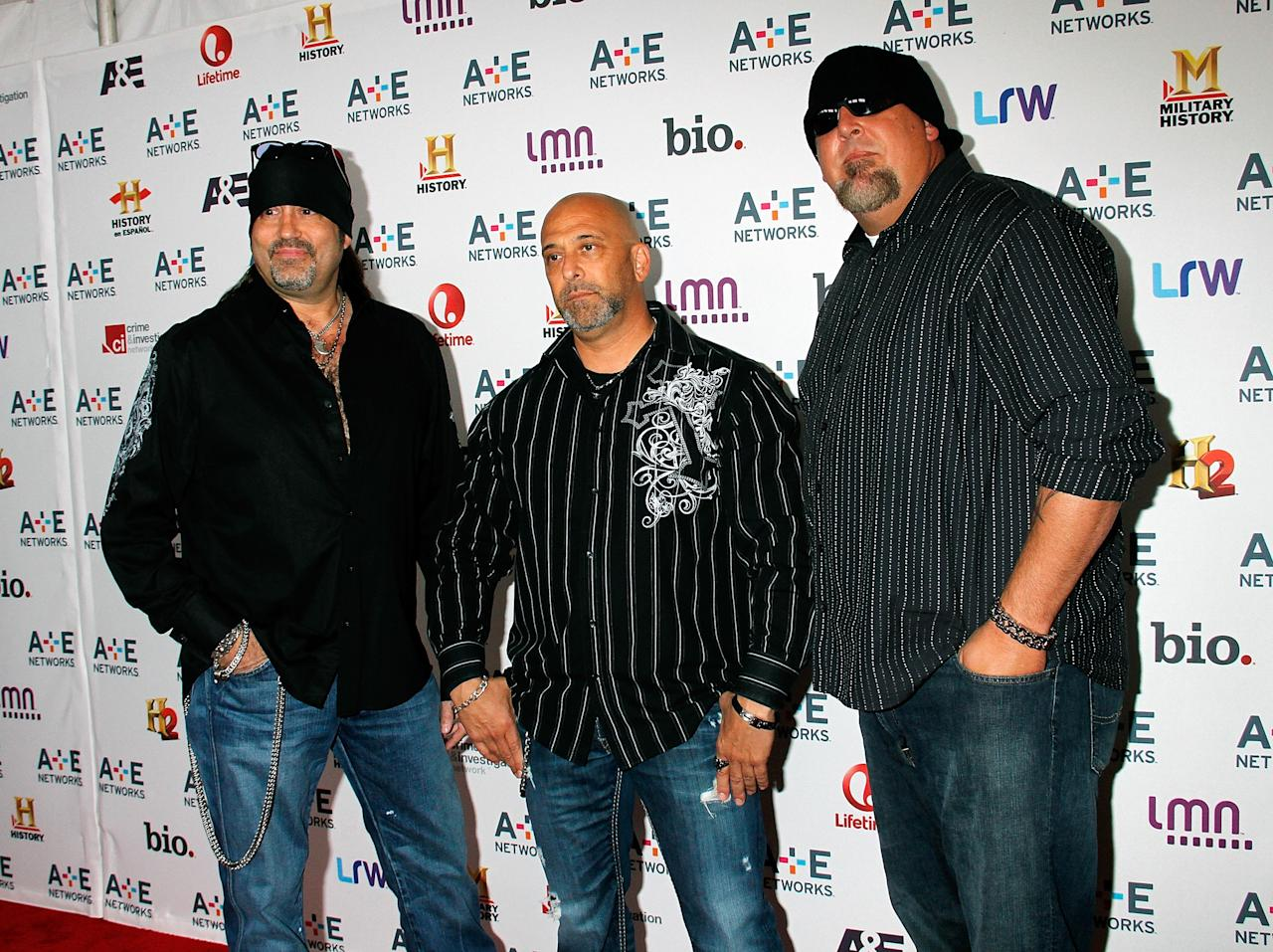 NEW YORK, NY - MAY 08: Danny, Kevin and Scott of Counting Cars attend A&E Networks 2013 Upfront at Lincoln Center on May 8, 2013 in New York City.  (Photo by Laura Cavanaugh/Getty Images)