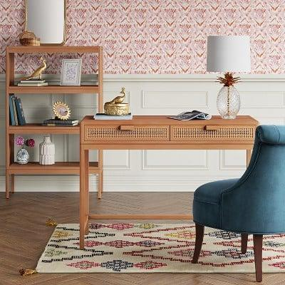 <p>This <span>Minsmere Writing Desk with Drawers</span> ($120) will add style and elegance to your office space. </p>
