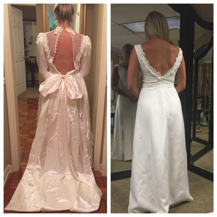 This Bride Made Over Her Mother S Wedding Dress Put A Ring On It