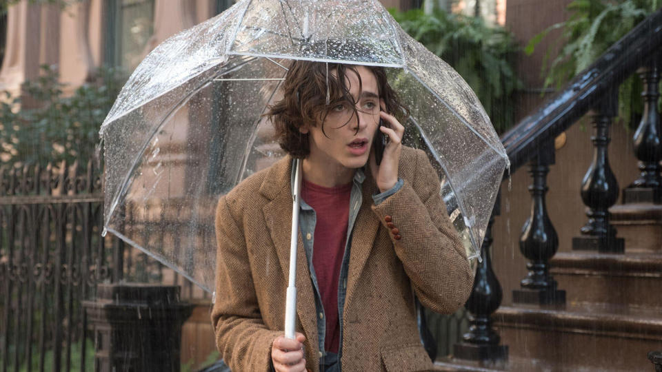 Timothée Chalamet in Woody Allen's 'A Rainy Day in New York'. (Credit:Gravier Productions/Perdido Productions)