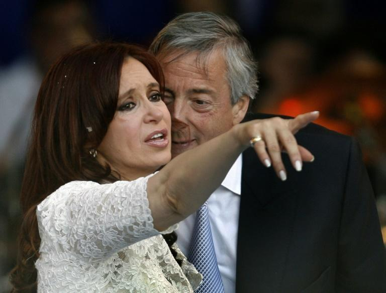 Many Tinder K members are inspired by the model of Nestor and Cristina Kirchner, pictured in December 2007 as she became president (AFP Photo/Juan MABROMATA)