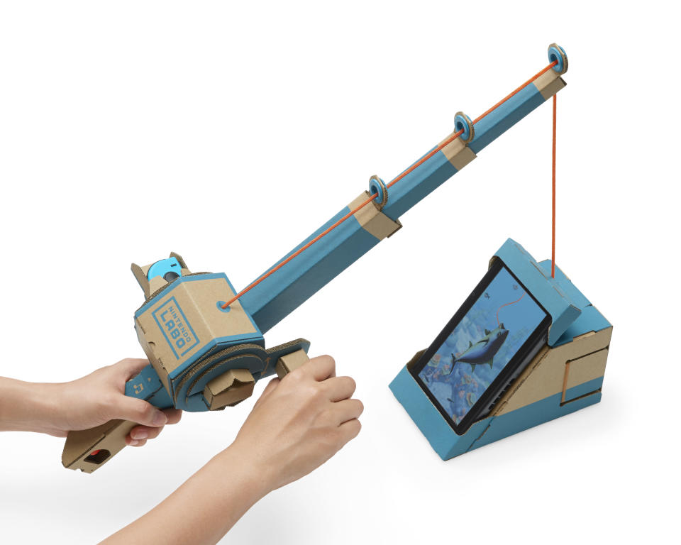 The Nintendo Labo Toy-Con Fishing Rod is by far the most addictive piece of the kit.