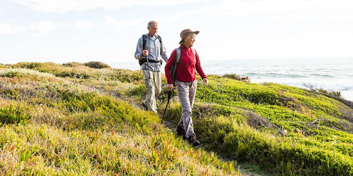 Walking is a low-impact exercise that can help many. (Alistair Berg / Getty Images)