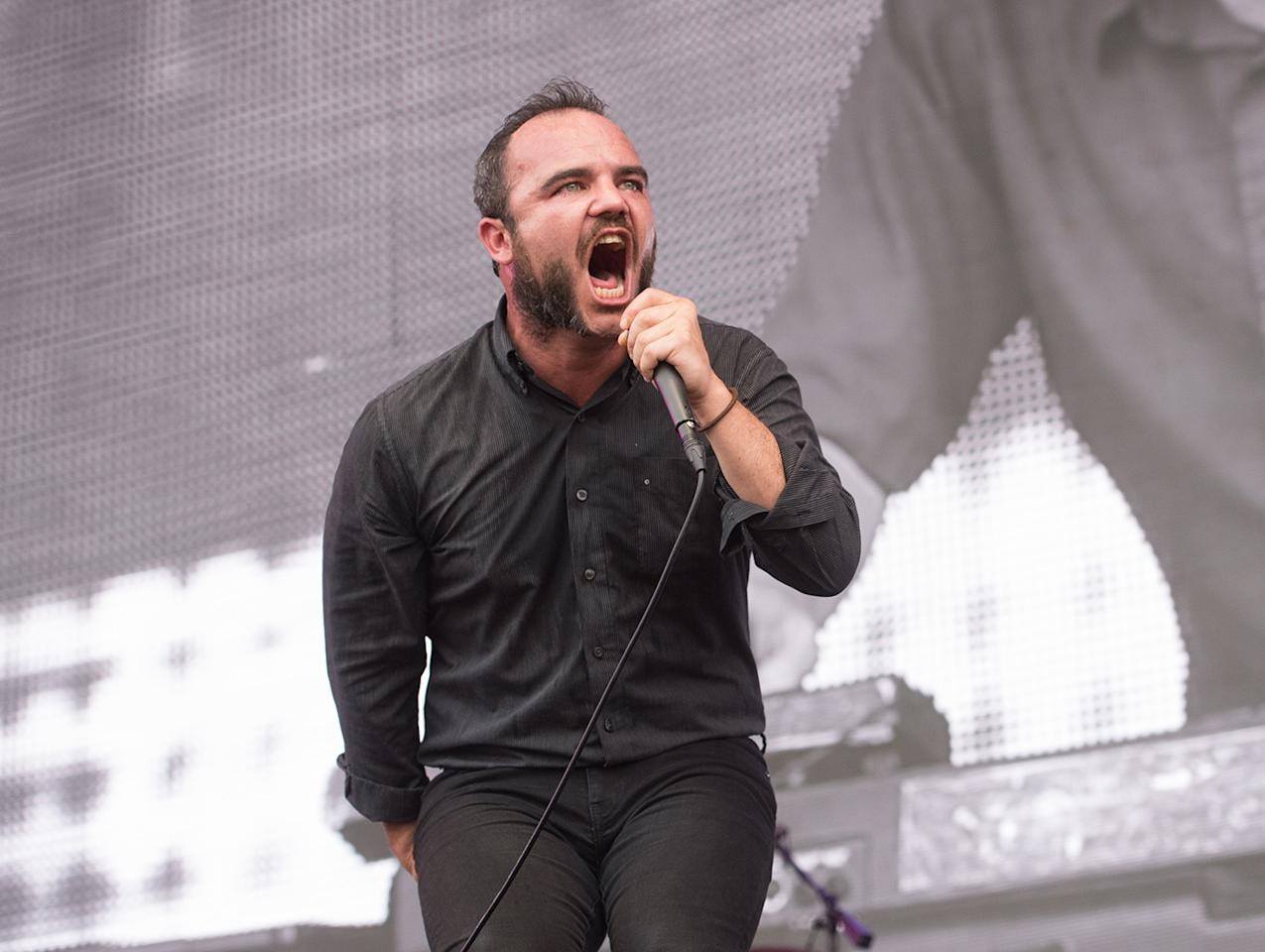 <p>Samuel Herring of Future Islands performs during 2017 Panorama Music Festival at Randall's Island on July 28, 2017 in New York City. (Photo by Noam Galai/WireImage) </p>