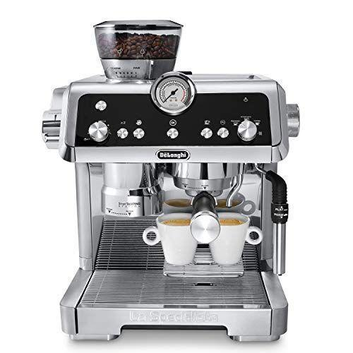 """<p><strong>De'Longhi</strong></p><p>bestbuy.com</p><p><strong>$799.99</strong></p><p><a href=""""https://go.redirectingat.com?id=74968X1596630&url=https%3A%2F%2Fwww.bestbuy.com%2Fsite%2Fdelonghi-la-specialista-espresso-machine-with-milk-frother-stainless-steel%2F6350925.p%3FskuId%3D6350925&sref=https%3A%2F%2Fwww.goodhousekeeping.com%2Fappliances%2Fcoffee-maker-reviews%2Fg29069348%2Fbest-espresso-machines%2F"""" rel=""""nofollow noopener"""" target=""""_blank"""" data-ylk=""""slk:Shop Now"""" class=""""link rapid-noclick-resp"""">Shop Now</a></p><p>This automatic espresso machine delivers a cup of espresso that's as fancy as it looks; plus, <strong>it's easy to use and adjust based on your preference.</strong> Choose from six grind sizes (fine for dark espresso, coarse for coffee), then select single espresso, double espresso, Americano, or coffee. It also dispenses hot water for tea. </p><p>La Specialista has a built-in tamping mechanism, which helps pack your grounds perfectly, and a pressure gauge you can monitor to ensure you're making the perfect cup. It also has an adjustable steam wand that can be used for flat (best for lattes) or foamy (best for cappuccinos) milk. We loved the full-body espresso it produced, with a thin, silky crema. <a href=""""https://www.amazon.com/DeLonghi-DLSC059-Knock-Box/dp/B07JM7D68N/ref=sr_1_1?keywords=delonghi+coffee+knock+box&qid=1568666617&s=home-garden&sr=1-1&tag=syn-yahoo-20&ascsubtag=%5Bartid%7C10055.g.29069348%5Bsrc%7Cyahoo-us"""" rel=""""nofollow noopener"""" target=""""_blank"""" data-ylk=""""slk:A knock box"""" class=""""link rapid-noclick-resp"""">A knock box</a> for used grounds can be bought separately, which we found very useful when making espresso after espresso. </p>"""