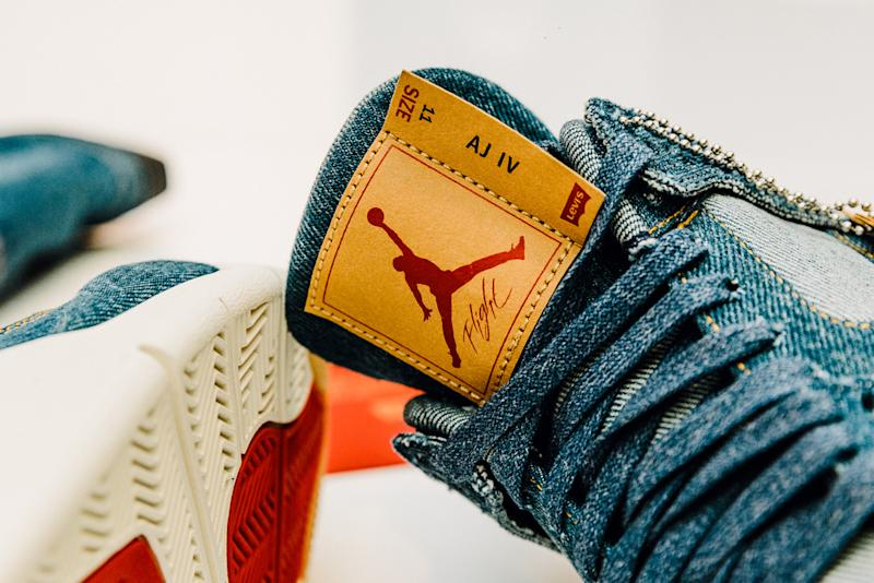 2bc3932f375cae The Levi s x Air Jordan Sneakers and Denim Jacket Are Coming Out This Month