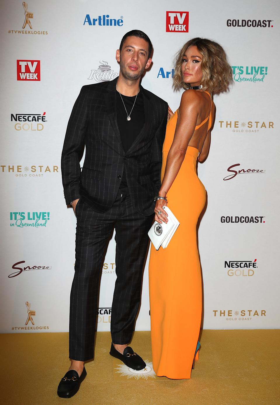 Erin McNaught and Example arrive at the 61st Annual TV WEEK Logie Awards at The Star Gold Coast on June 30, 2019 on the Gold Coast, Australia. (Photo by Chris Hyde/Getty Images)