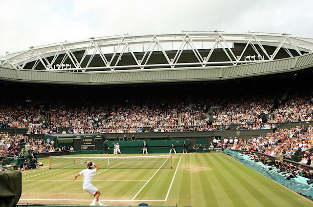 It was the last match before the roof was installed. (Adam Davy/PA Images via Getty)