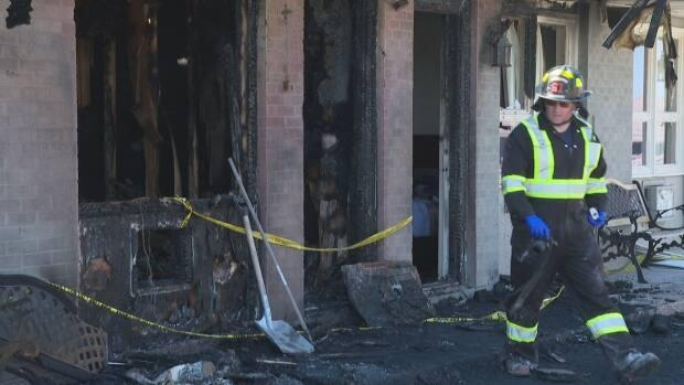 The fire started in either the living area or the bathroom of a motel unit at Canada's Best Value Inn, fire officials said last week. (Brian Higgins/CBC - image credit)