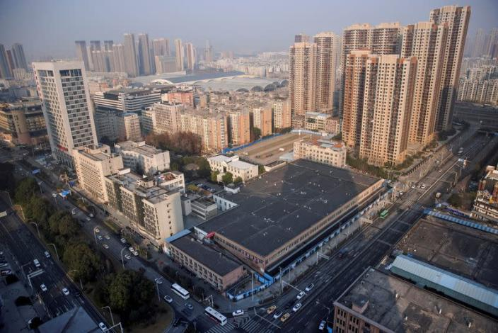 A general view shows the Huanan Wholesale Seafood Market, where the first cluster of cases of the coronavirus disease (COVID-19) emerged, in Wuhan
