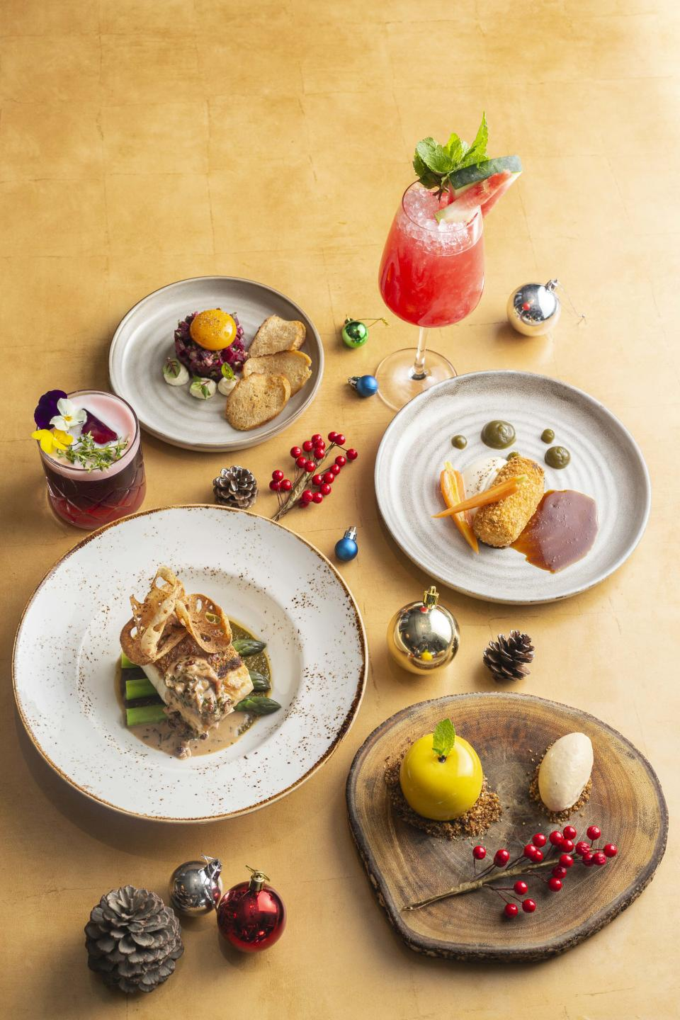 The Festive menu at Bread Street Kitchen. (PHOTO: Marina Bay Sands)